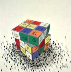 Cubed Culture by Craig Alan -  sized 36x36 inches. Available from Whitewall Galleries